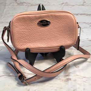 Coach crossbody mini bag.  Pink!